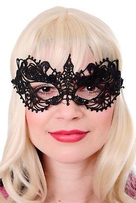 Halloween Karneval Maske Augenmaske schwarz Spitze Gothic Maskenball AE004A