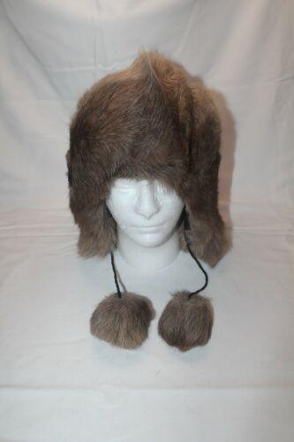 Alaska Native Made caribou Real Fur Trapper Hat