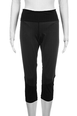 Z by ZELLA Capri Yoga Pants XL Black Gray Crop Leggings Mesh Athletic Running