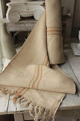 Grain sack grainsack fabric old WASHED linen HEMP Eco-friendly Organic 6.9 yards