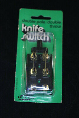 New Leviton 25a-125v Double Pole Throw Knife Electrical Switch 800-19919