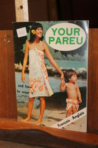 Vintage Your Pareu And How To Wear It Tahiti Clothing Manual Topless Models 1978