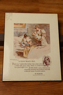 Ivory Soap Ad Bathroom Sign 1975 A Good Nights Rest The Procter   Gamble Co