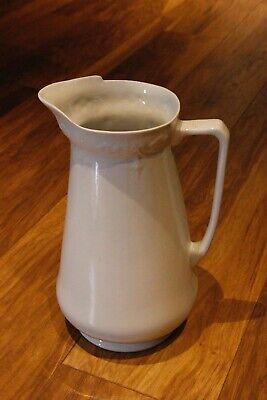 Very Classy Classic Art Nouveau Plain White Vase - Gorgeous Shape - 12 inches hi