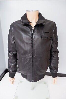 Hugo Boss Januk Mens Leather Jacket, Coat, Size 50, Uk 40R, Large, Black, VGC