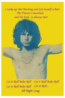 Jim Morrison & The Doors * Roadhouse Blues * Promotional Poster
