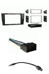 Black Radio Install Dash Mount Kit Wire Harness Antenna