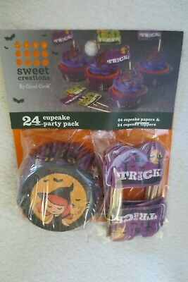 Halloween Baked Goods (Sweet Creations Good Cook Baking Cupcakes Liners & Toppers  24 CT Halloween)