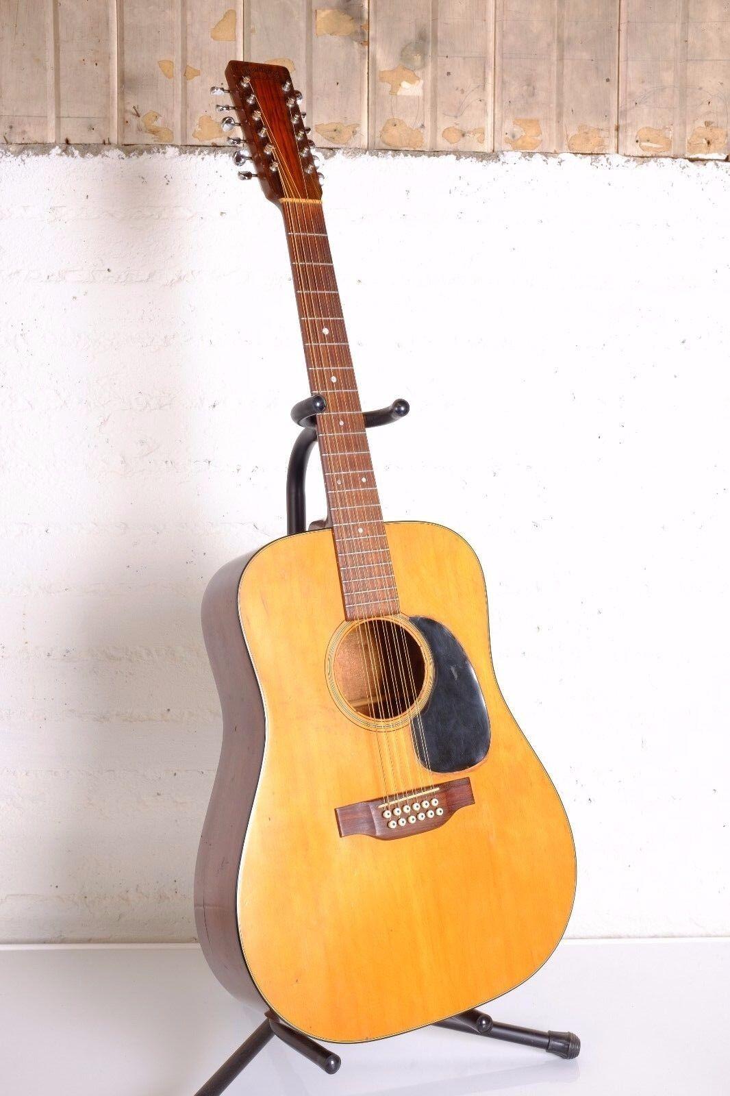 Vintage 1975 Martin D-12-18 12 String Acoustic Guitar W Original Case Twelve