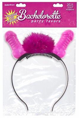Bachelorette Party Favors Light Up Flashing LED Pecker Headband Bride Night -