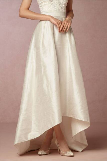 8ea8bc3f6a BHLDN High-Low Bellamy Wedding Skirt (Style      4143) Size 14 ...