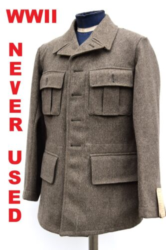 Vintage Swedish Army Fitted Wool Coat/ Jacket /Tunic WWII M39. NEW, 1940