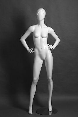 Adult Female Fiberglass Mannequin Samantha Glossy White - Samantha4
