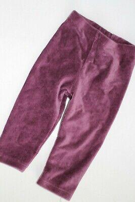 Size 6-12 Months Leggings Autumn Velour Grape  NEW  (Velours Leggings Mädchen)