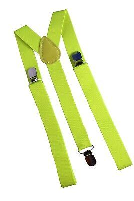 Hosenträger Mann Y-Form elastisch unisex 3 Clips Karneval verstellbar Neon - Neon Mann Kostüm