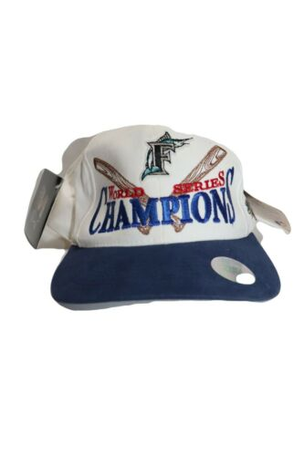 Vintage Florida Marlins 1997 World Series Champions Snap Back Hat With Tags