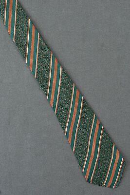 New 1930s Mens Fashion Ties 1920's 1930's Green & Brown Striped Tie Necktie $34.99 AT vintagedancer.com
