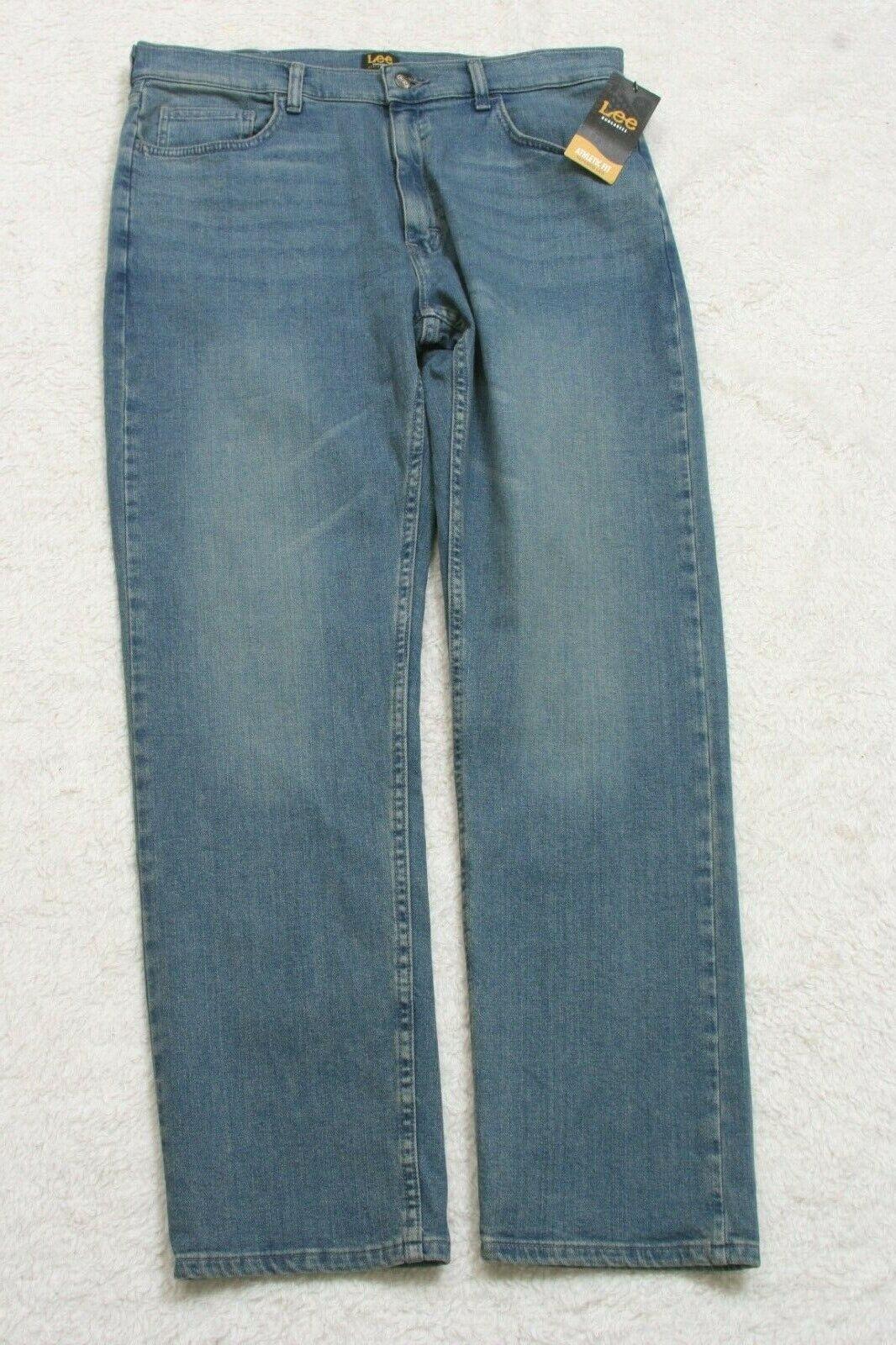 New Lee Dungarees Blue Jeans Pants Denim Solid Men's Cotton