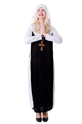 DRESS ME UP - Kostüm Damen Damenkostüm Nonne Schwester Oberin katholisch Gr. - Nicht Dress Up Kostüm