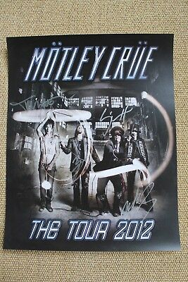 Nikki Sixx Mars Neil Lee Signed Motley Crue KISS Tour 2012 Poster Autographed
