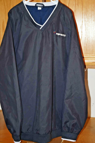 PEPSICO PEPSI PULLOVER JACKET NAVY BLUE CHARLES RIVE MENS XL EXTRA LARGE