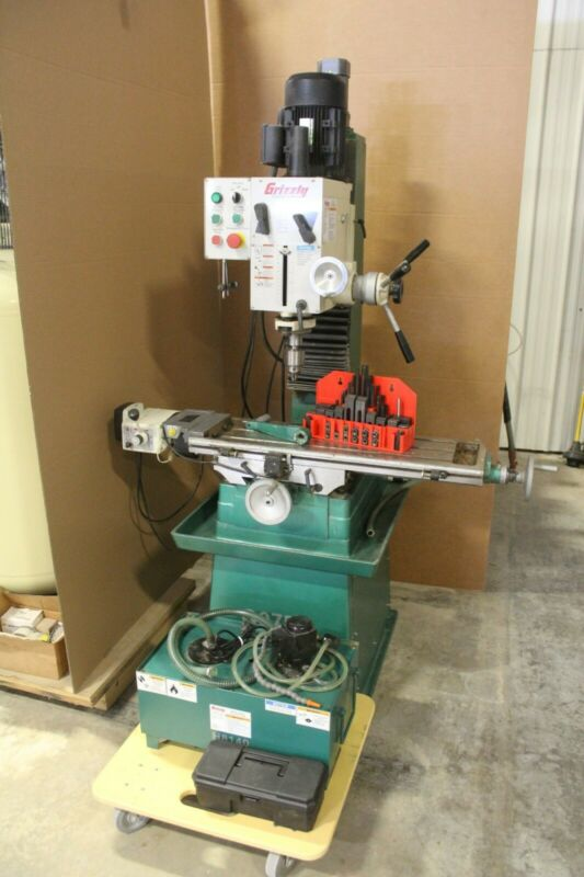 Grizzly G0755 Heavy-Duty Mill/Drill w/Stand & Power Feed