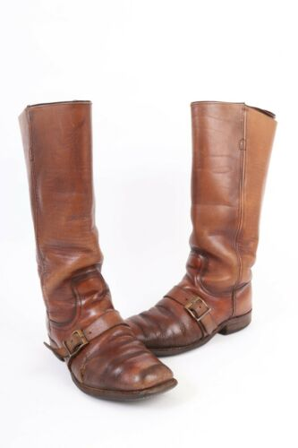Vintage 70s FRYE Leather Buckle Western Riding Boots USA Women