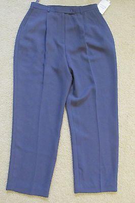 Neuer Frauen Style & Co Jasmin Lila Hosen / Anzughose 14 Petite 14P Plissiert - Petite Hose Hosen