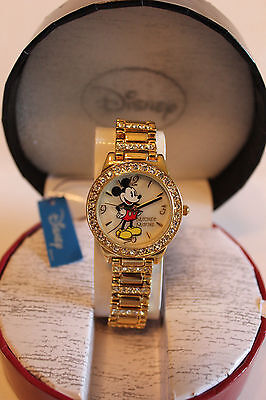 New Disney Mickey Mouse ladies gold plated watch, Quartz.new/warranty