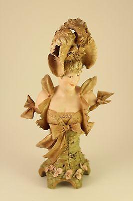 Antique Ernst Wahliss Turn Wein Austria Porcelain Lady Bust Sculpture Figurine