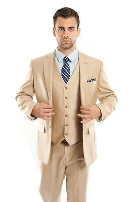 Men's Tailored Fit Suit Two Button Textured Three Piece Jacket Business Suits  Tailor Suit Jacket