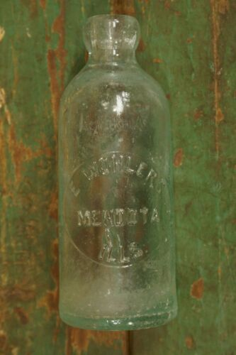 Antique Blob Top E. Wohlers Mendota IL Soda Bottle