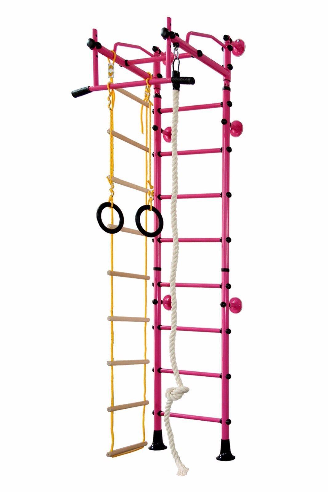Klettergerüst Sport Kinder Kletterwand Sprossenwand Made in Germany - FitTop M2