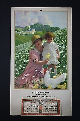 Original 1922 Farm Advertising Calendar - Allentown, Pennsylvania General Store