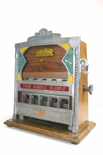 1930s Fields Rare Five Jacks Penny Drop Gambling Machine Trade Stimulator