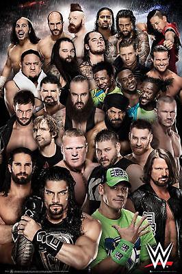 Wrestling - WWE - Superstars 2018 - Sport Poster Plakat Druck - Größe 61x91,5 cm