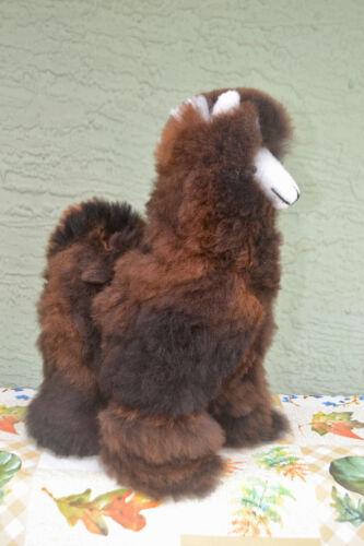 "Brand New Handmade In Peru 18 - 19"" Tall Standing Plush Alpaca Llama #A19-2"