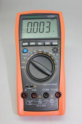 Aidetek Vc99 6999 Auto Range Multimeter Amp C F Temp Analog Bar R C F Diode Buz