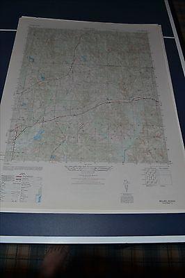 1940's Army Topo & Photo map  Midland Georgia Sheet 4049 III SE  Fort Benning