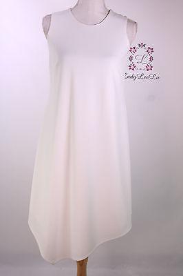 Calvin Klein New Sleeveless Dress with Handkerchief Hem CD7C150R Size 4 8 10 12 (Dress With Handkerchief Hem)