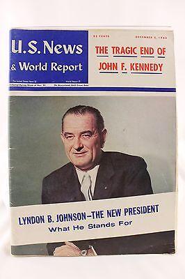 Dec 2 1963 Us News And World Report Death Of Jfkennedy Lbj New President