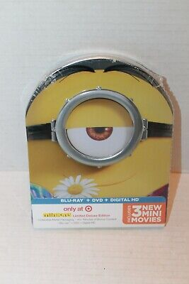 NEW SEALED MINIONS MOVIE BLU RAY DVD & DIGITAL HD LIMITED DELUXE EDTION IN CASE