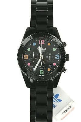 ADIDAS Unisex ADH2946 'Brisbane' Colorful Dial Black Plastic 43mm Watch 133654