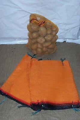 100 Potato Raschel Sacks Sacks 25kg Capacity 50 x 80 CM