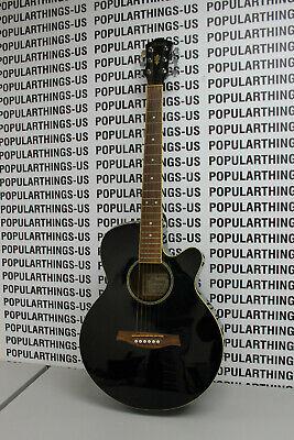 Ibanez AEG4JP-BK Black Acoustic Electric Guitar
