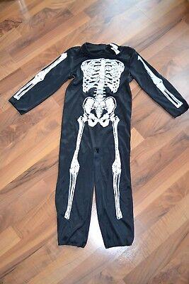 KINDERKOSTÜM Karneval FaschingMädchen Jungen Verkleidung Größe S - Kleiner Junge Skelett Kostüm