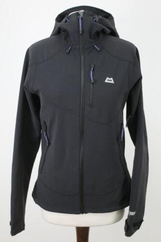 MOUNTAIN EQUIPMENT Black Softsehll Trojan Hooded Jacket size Uk 10