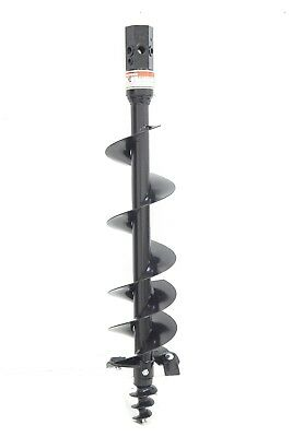 """24/"""" Auger Bit w// Round Collar For Skid Steer Loaders 4/' Length 24 Inch"""