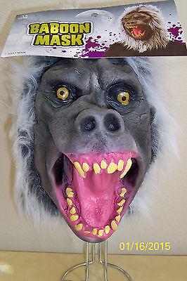 Angry Pavian Voll Latex Maske mit Haaren Kostüm - Pavian Kostüm