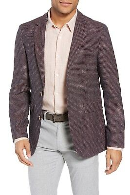 Wool Blend Side Tab - SAND Trim Fit Check Wool Blend Sport Coat, Lined, Side vents, size 40R, $675 NWT